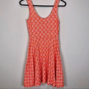 Urban Outfitters   Ecoté Orange & White Tank Dress
